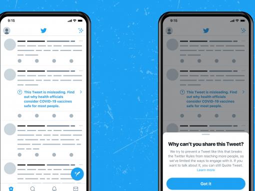 تويتر يضع إشعارات على التغريدات التي تحتوي على معلومات مضللة حول لقاحات كوفيد-19