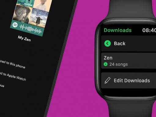 تطبيق Spotify يتيح إمكانية تحميل الصوتيّات على Apple Watch للاستماع بدون اتصال أو هاتف